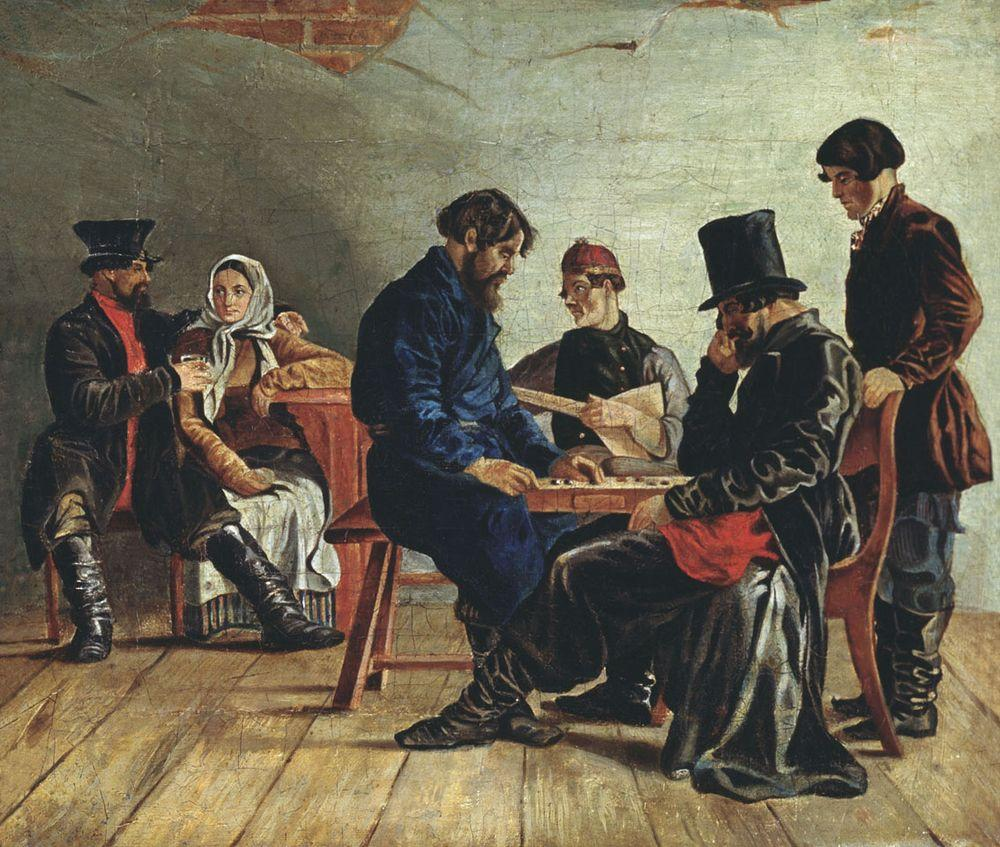 Игра в шашки — Щедровский Игнатий Степанович