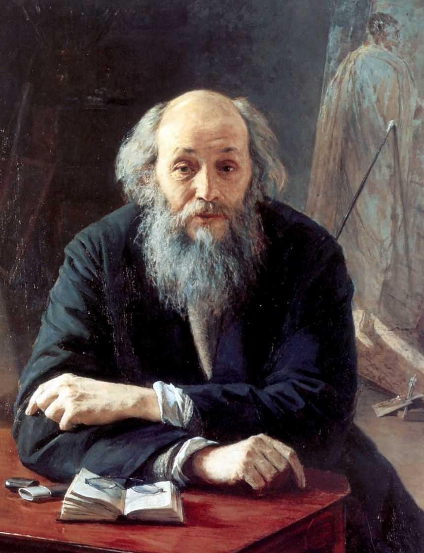 Портрет художника Николая Николаевича Ге — Ярошенко Николай Александрович