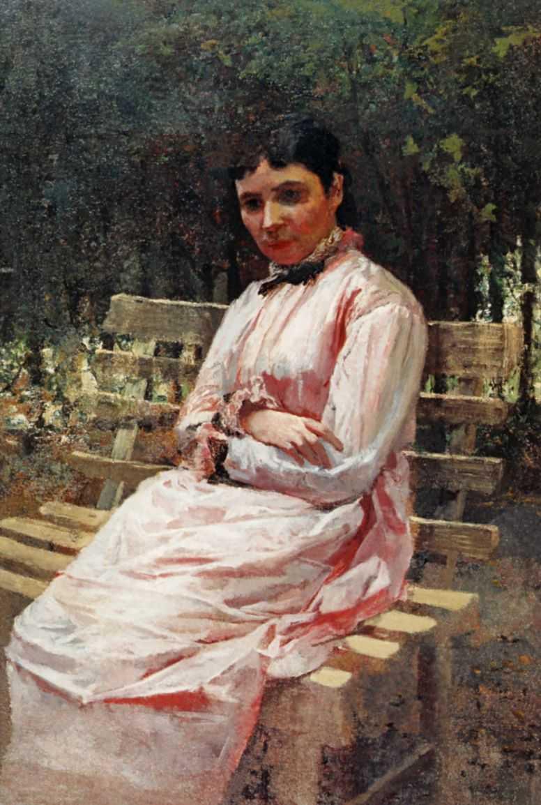 В парке. Портрет С.Р.Левицкой — Ярошенко Николай Александрович