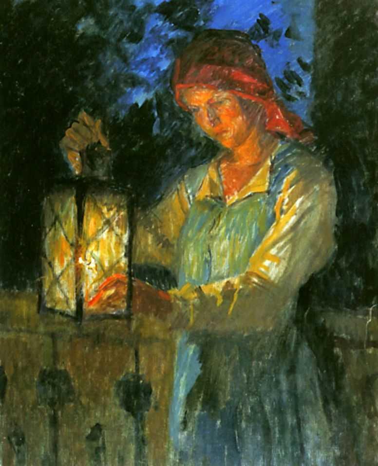 Девочка с фонарем — Богданов-Бельский Николай Петрович