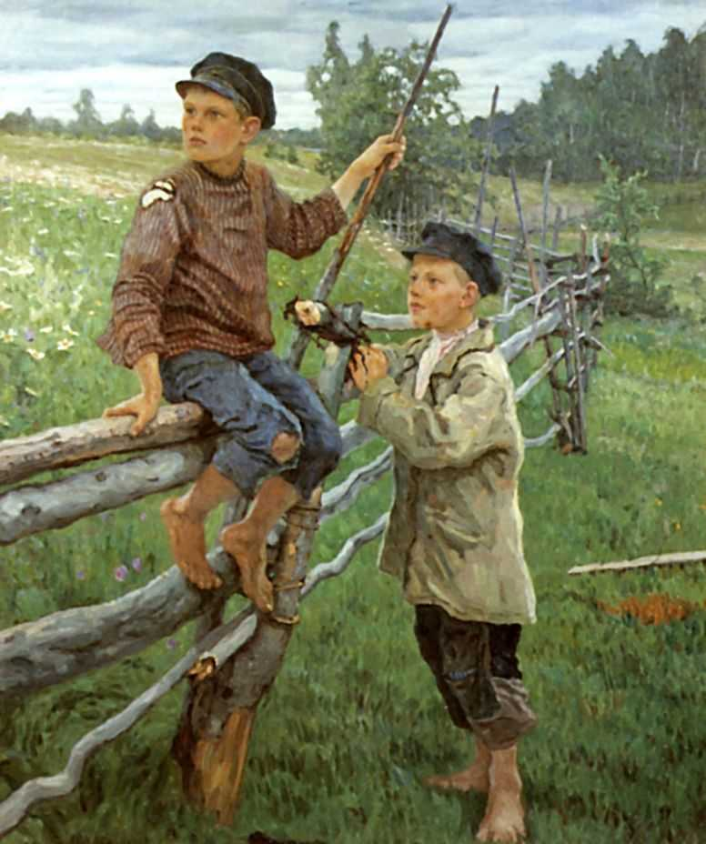 Деревенские мальчики. Вариант — Богданов-Бельский Николай Петрович