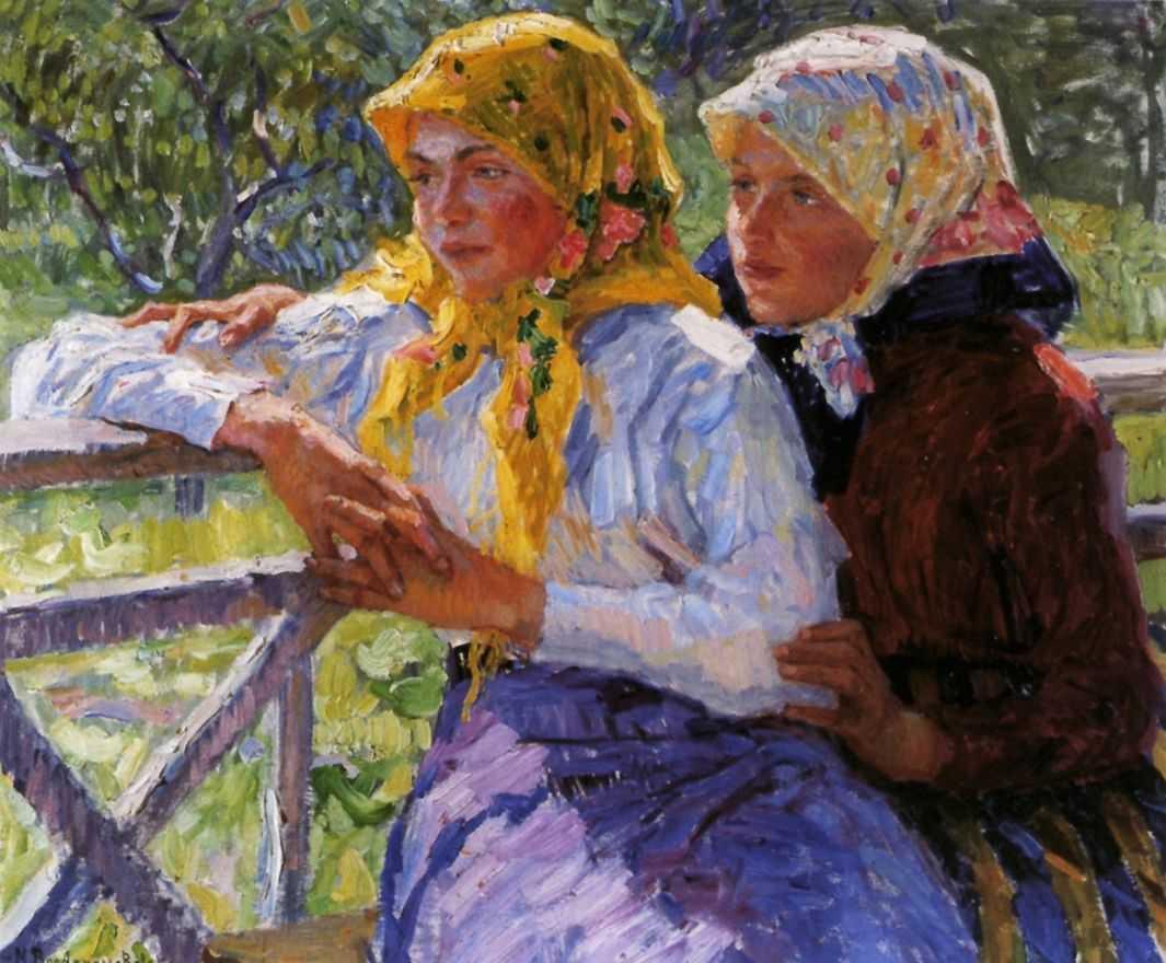 Латгальские девочки — Богданов-Бельский Николай Петрович
