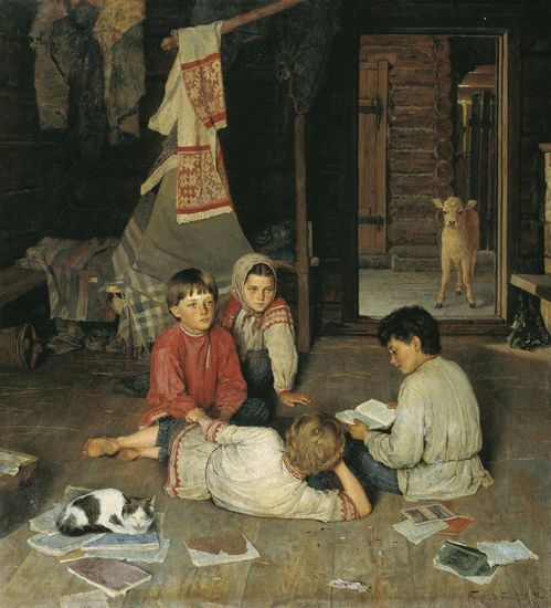 Новая сказка — Богданов-Бельский Николай Петрович