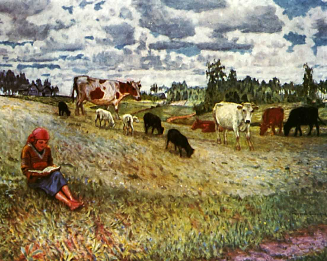 Пастушка — Богданов-Бельский Николай Петрович