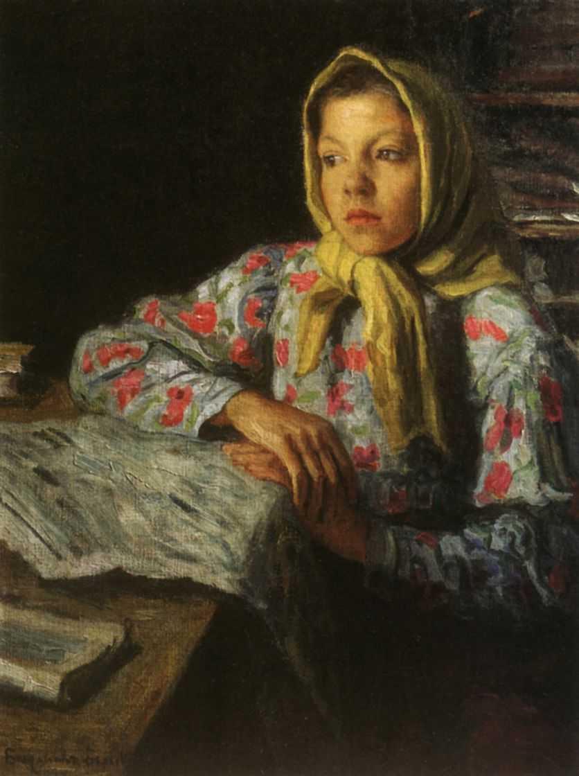 Портрет девочки — Богданов-Бельский Николай Петрович