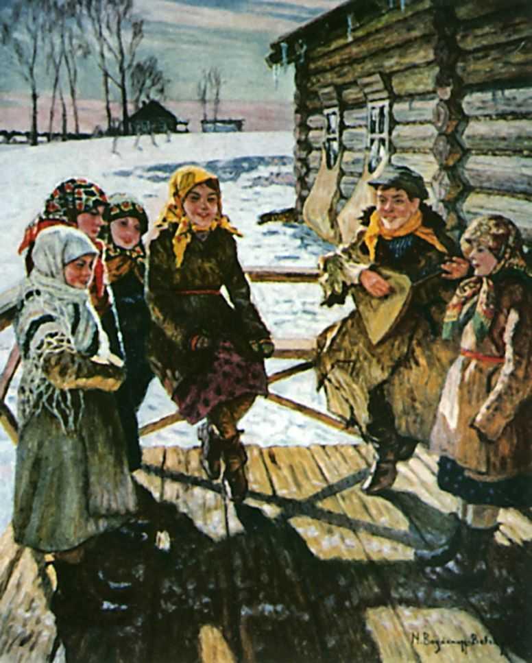Праздник на крылечке — Богданов-Бельский Николай Петрович