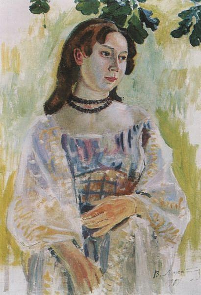 Девушка в ожерелье — Борисов-Мусатов Виктор Эльпидифорович