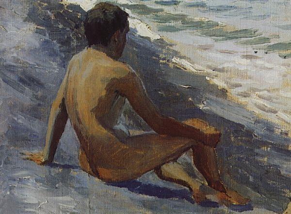 Мальчик на берегу моря — Борисов-Мусатов Виктор Эльпидифорович