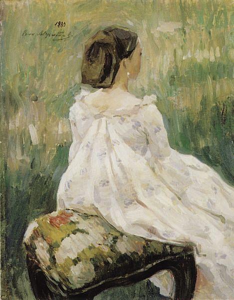 Сидящая женщина — Борисов-Мусатов Виктор Эльпидифорович