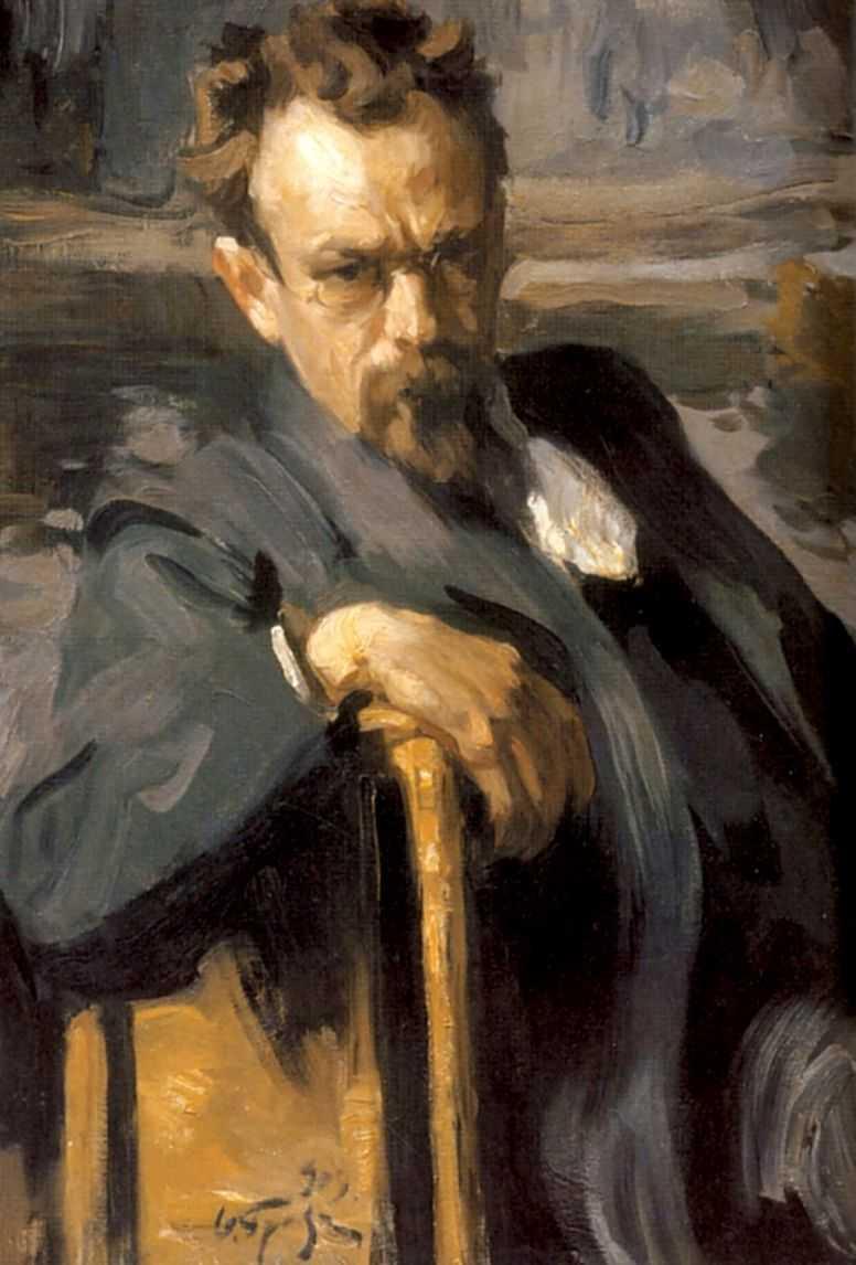 Портрет художника Сергея Васильевича Иванова — Браз Осип Эммануилович