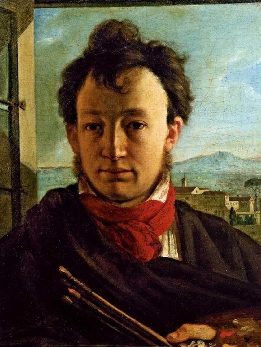Автопортрет с палитрой и кистями в руке. 1805 — Варнек Александр Григорьевич