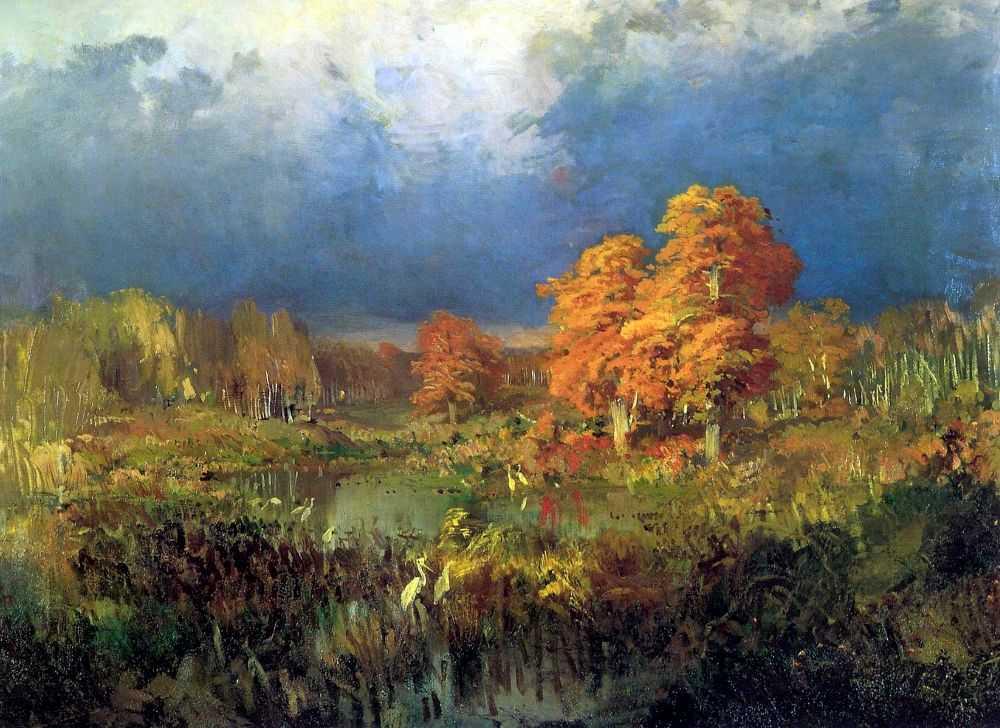 Болото в лесу — Васильев Федор Александрович