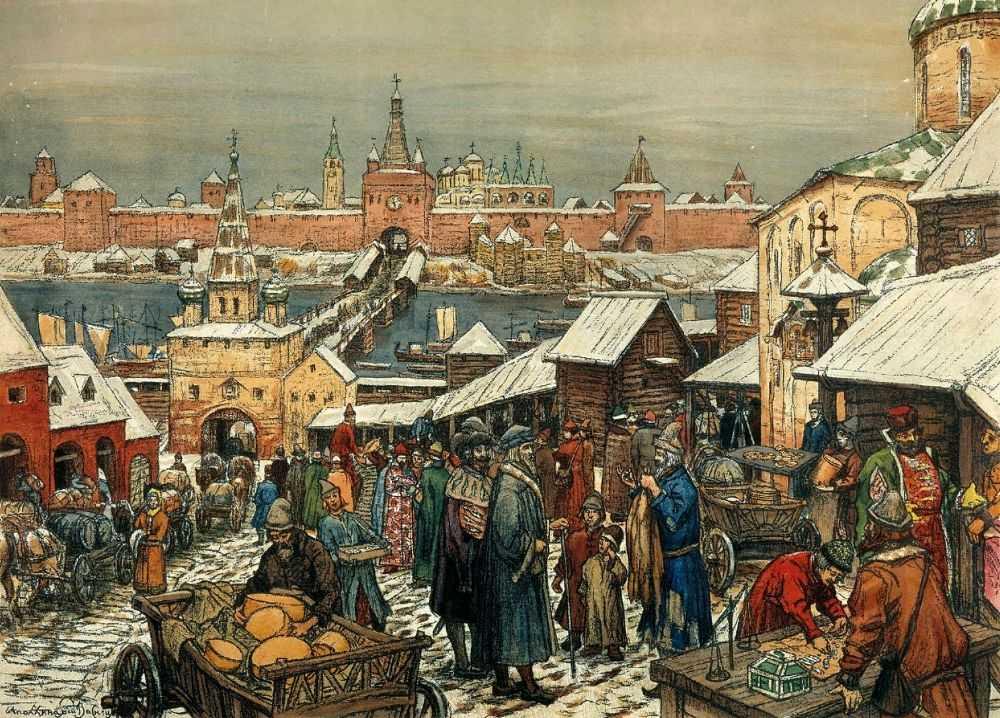 Новгородский торг — Васнецов Аполлинарий Михайлович