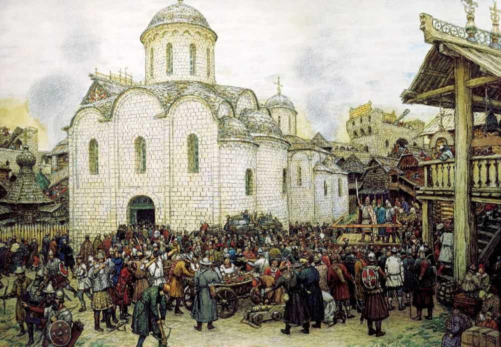 Оборона города — Васнецов Аполлинарий Михайлович