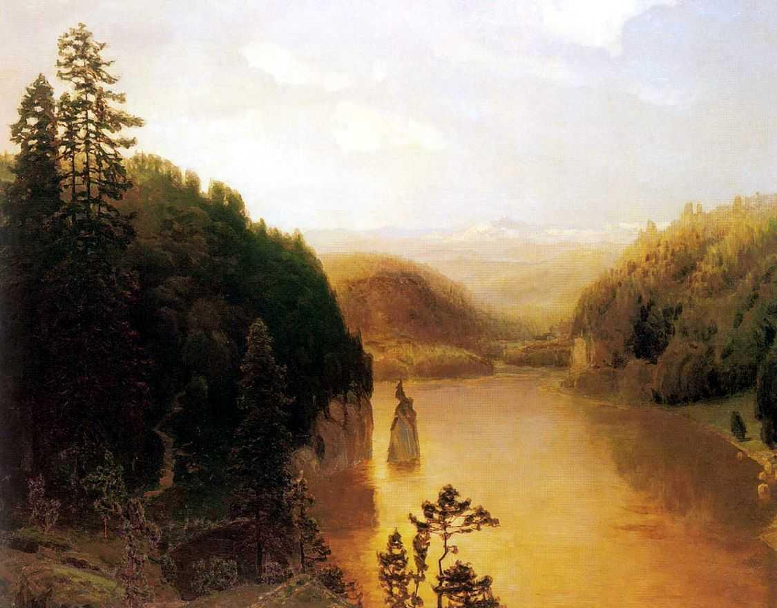 Озеро в горной Башкирии — Васнецов Аполлинарий Михайлович