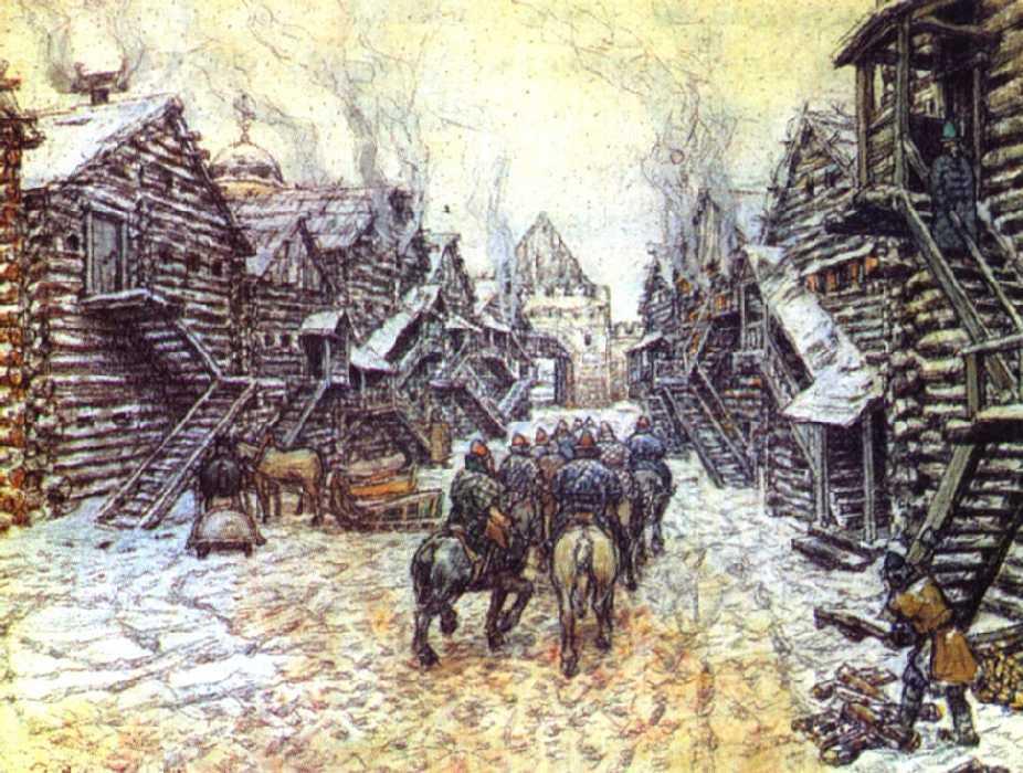 Старая Москва — Васнецов Аполлинарий Михайлович