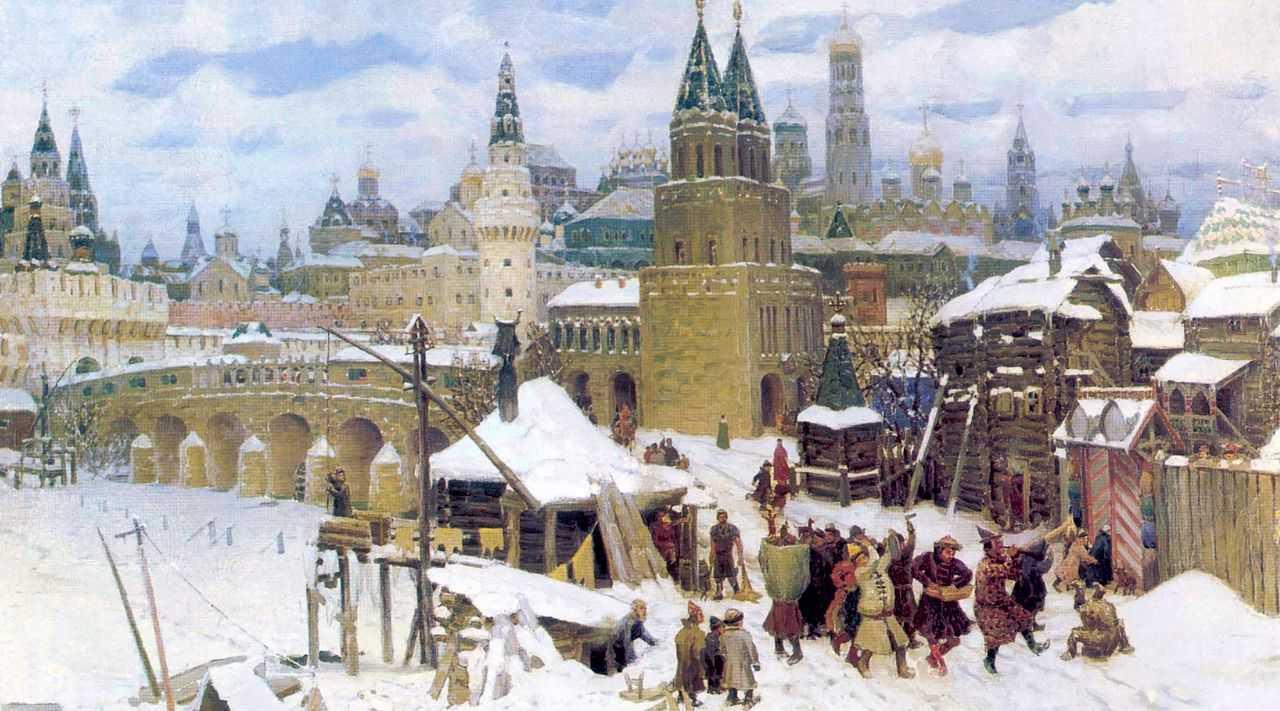 Всехсвятский каменный мост. Москва конца XVII века — Васнецов Аполлинарий Михайлович