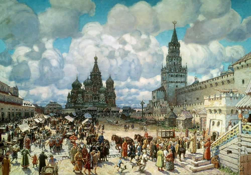 Красная площадь — Васнецов Аполлинарий Михайлович