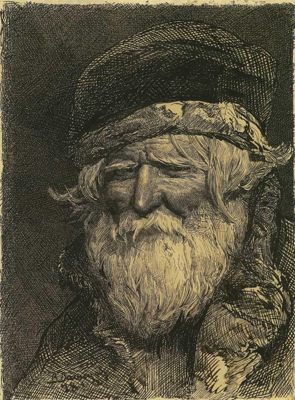 Голова крестьянина — Васнецов Виктор Михайлович