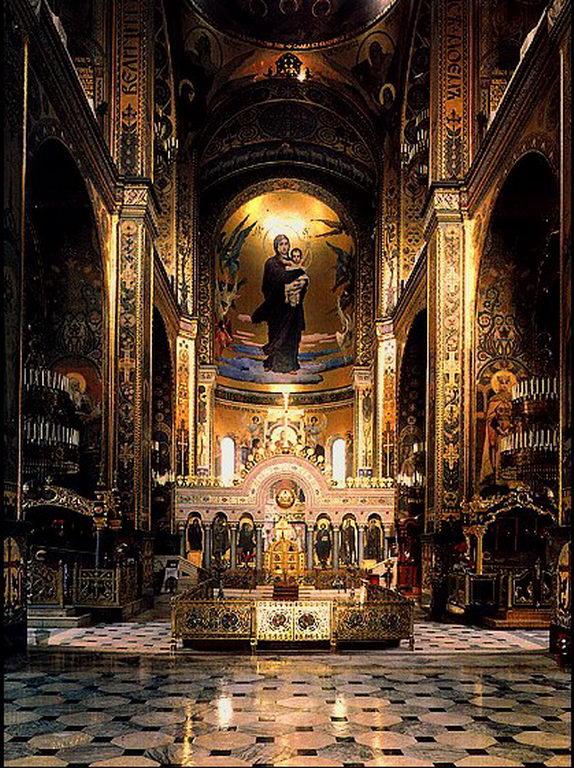 Интерьер Владимирского собора в Киеве — Васнецов Виктор Михайлович