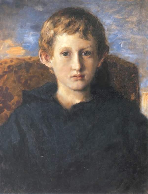 Портрет Бориса Васнецова, сына художника — Васнецов Виктор Михайлович