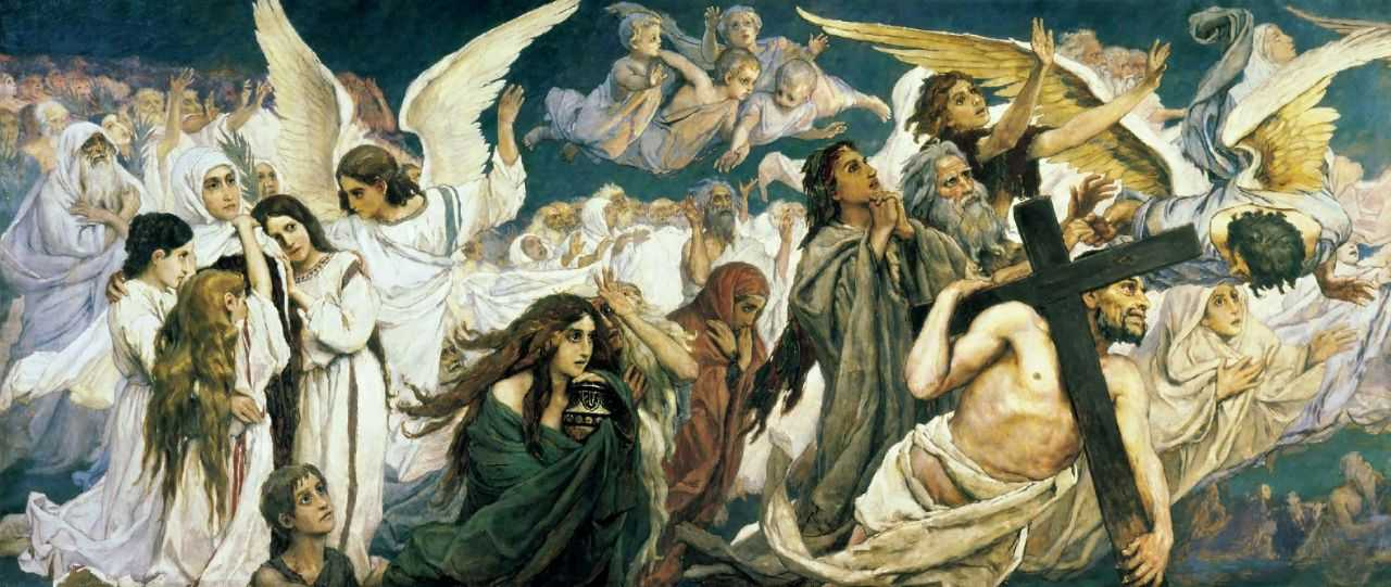 Радость праведных о Господе. Триптих (левая часть). — Васнецов Виктор Михайлович