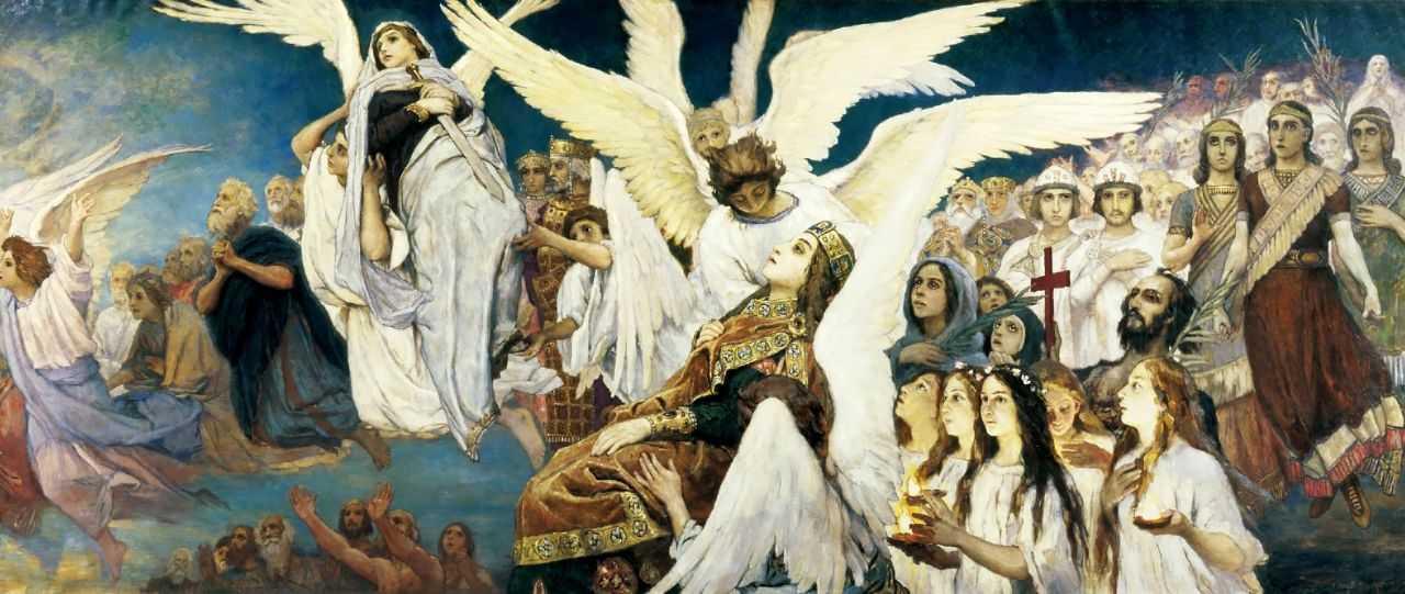 Радость праведных о Господе. Триптих (правая часть) — Васнецов Виктор Михайлович