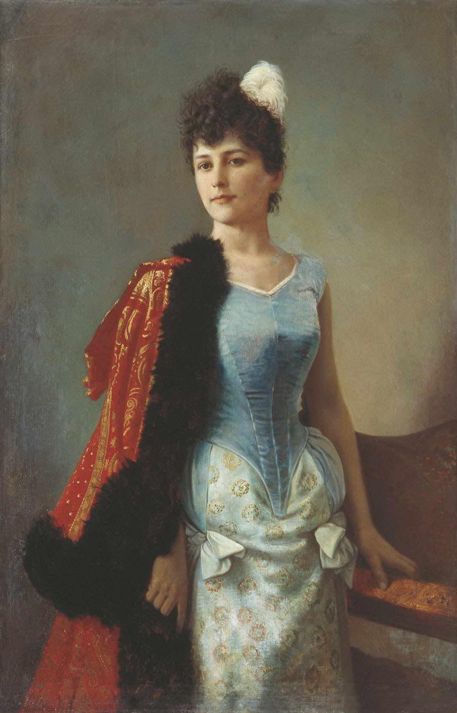 Женский портрет — Вениг Карл Богданович