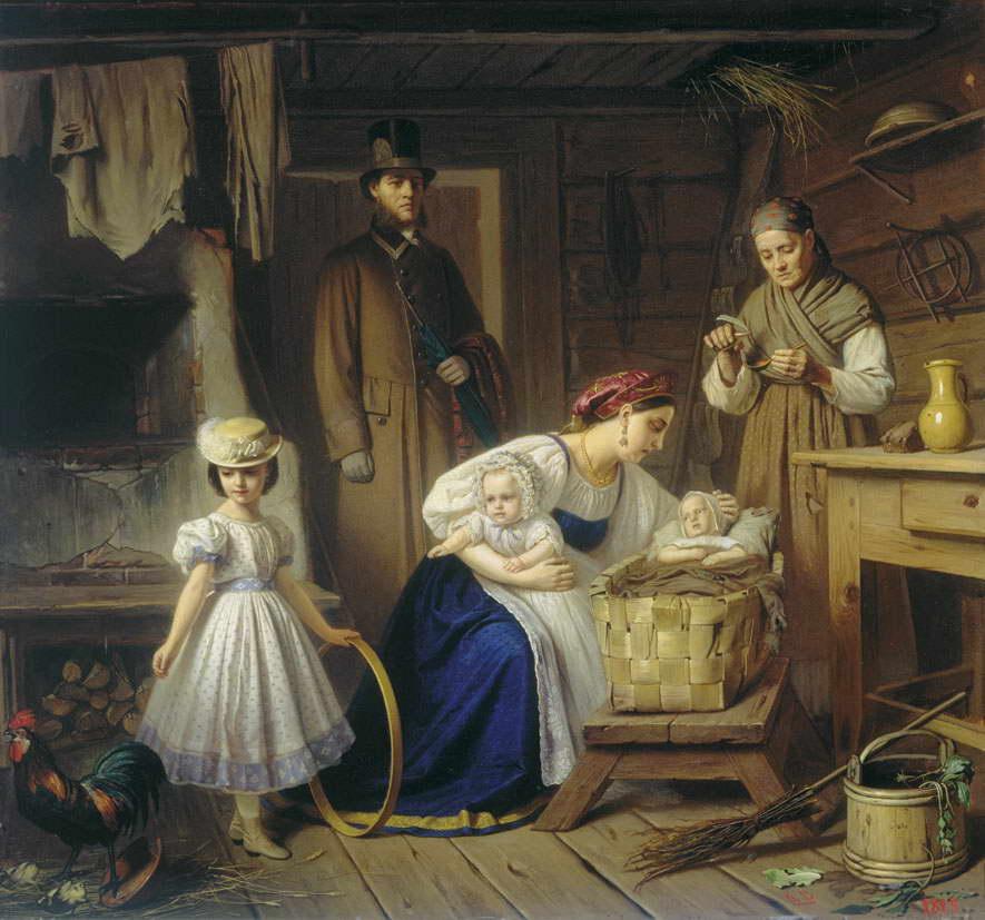 Кормилица навещает своего ребенка — Вениг Карл Богданович