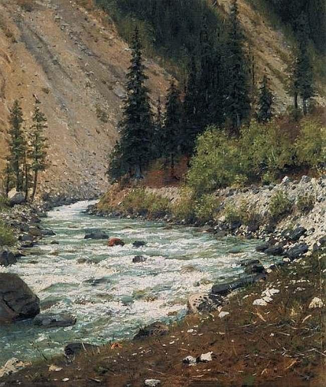 Горный ручей в Кашмире — Верещагин Василий Васильевич