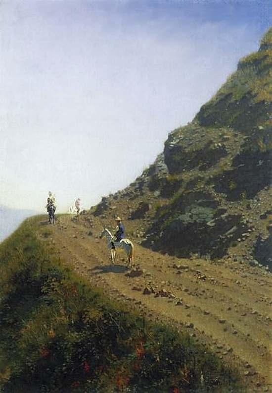 Кочевая дорога в горах Алатау — Верещагин Василий Васильевич