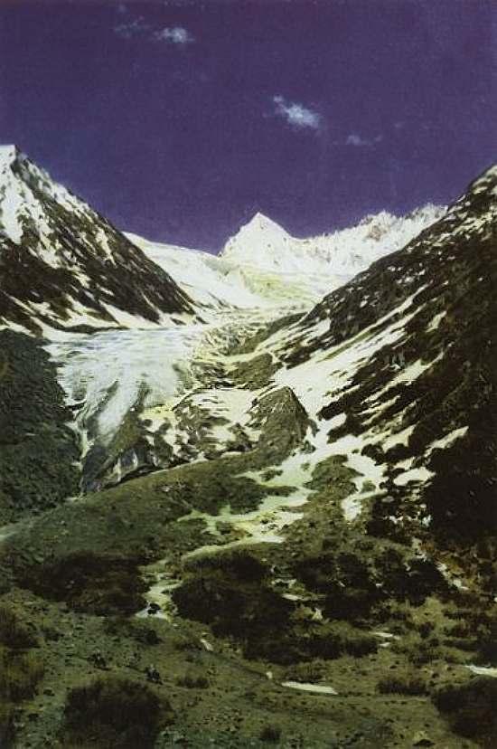Ледник по дороге из Кашмира в Ладакх — Верещагин Василий Васильевич