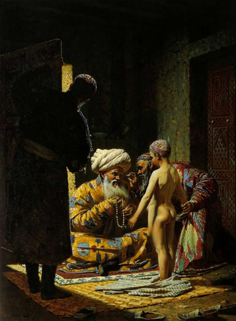 Продажа ребенка-невольника. — Верещагин Василий Васильевич