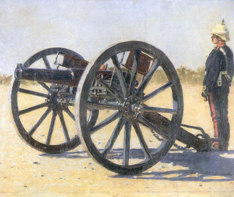 Пушка. 1882г. Этюд — Верещагин Василий Васильевич