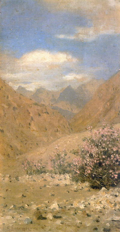 Розы в Ладаке. 1874г. Этюд — Верещагин Василий Васильевич