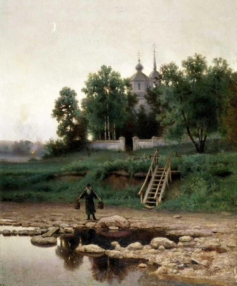 У монастыря — Волков Ефим Ефимович