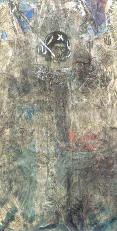 Видение пророка Иезекииля — Врубель Михаил Александрович