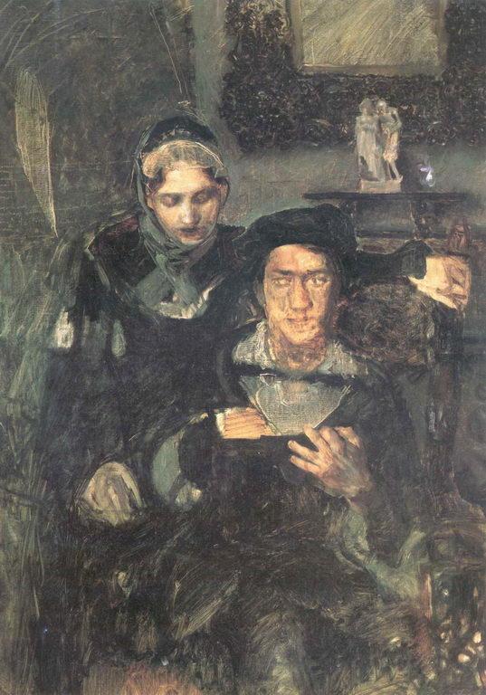 Гамлет и Офелия — Врубель Михаил Александрович