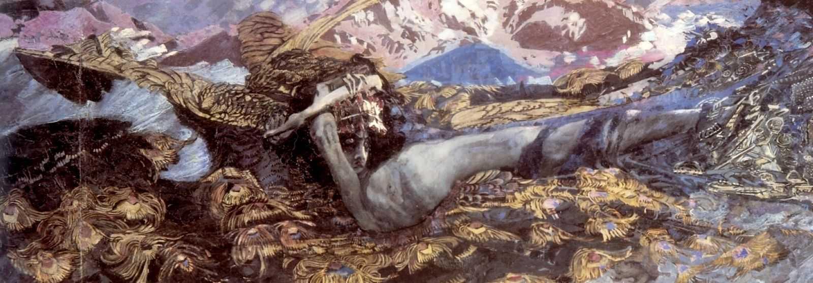 Демон поверженный — Врубель Михаил Александрович