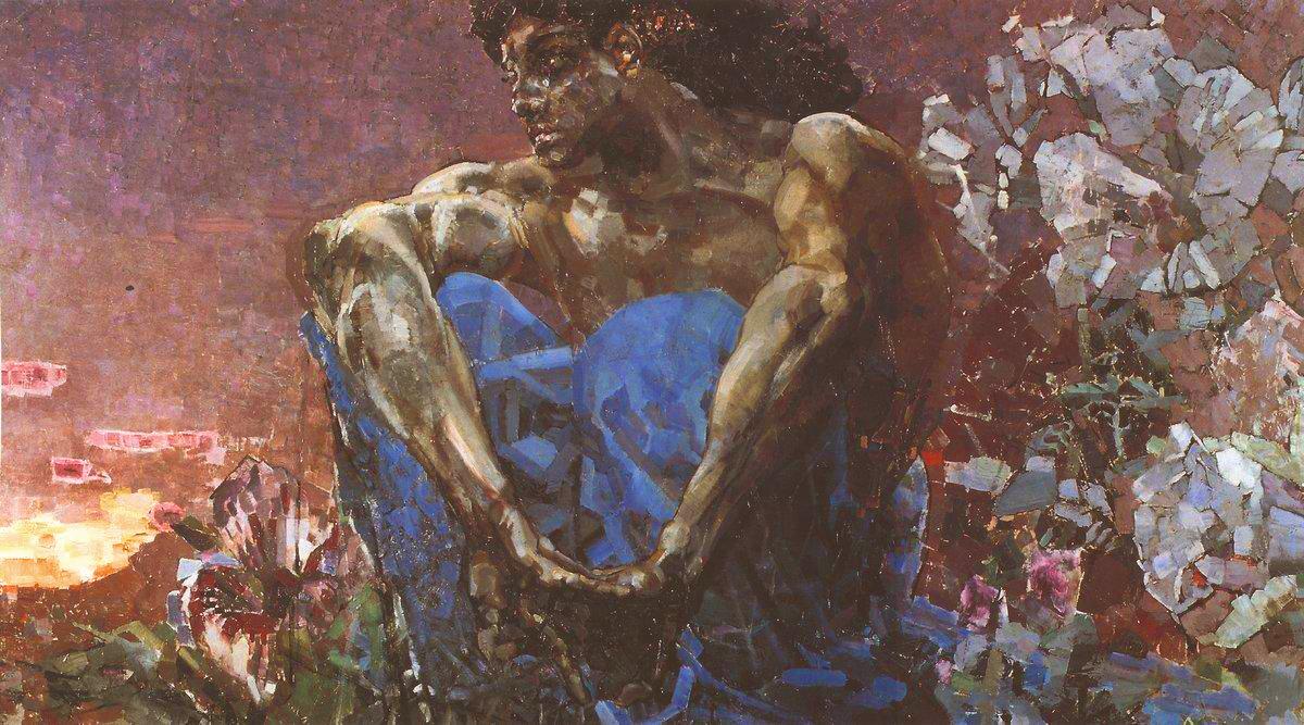 Демон сидящий 1 — Врубель Михаил Александрович