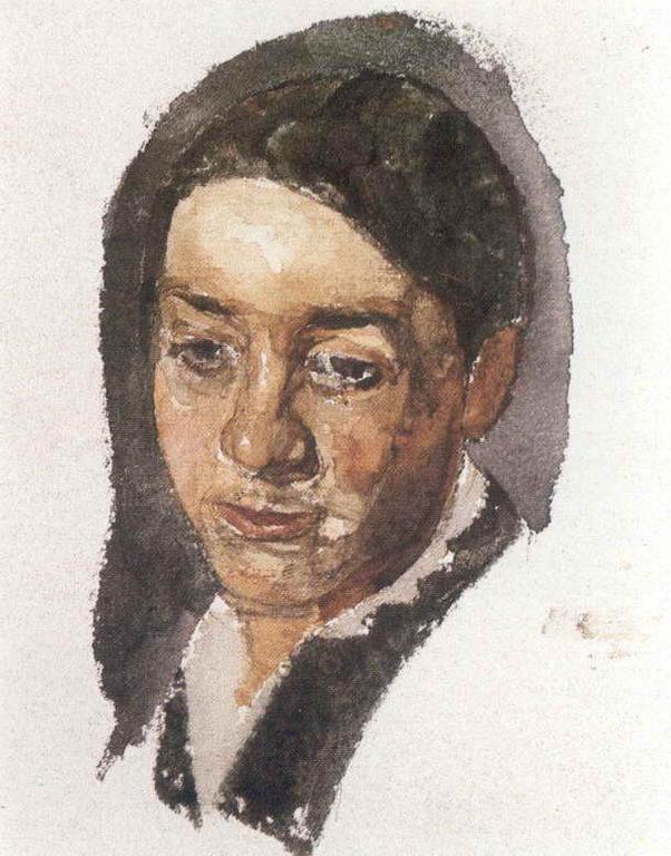 Женский портрет — Врубель Михаил Александрович