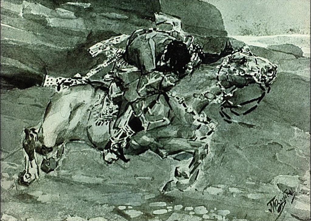 Иллюстрация к поэме М.Ю. Лермонтова «Демон». — Врубель Михаил Александрович