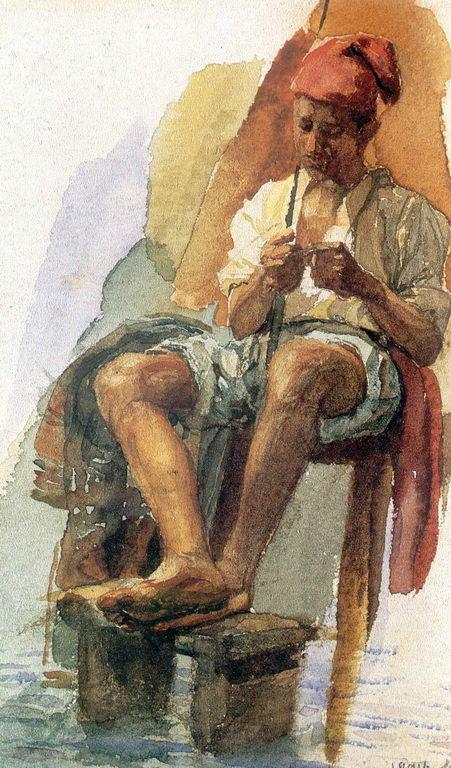 Итальянский рыбак — Врубель Михаил Александрович