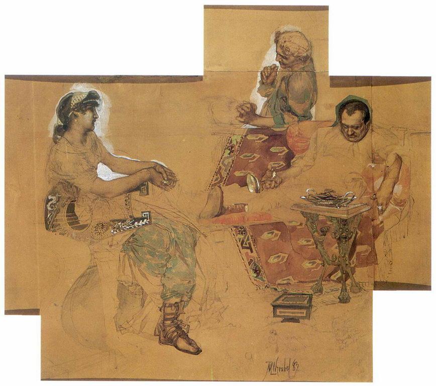 Пирующие римляне — Врубель Михаил Александрович