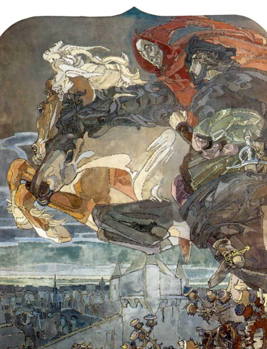 Полет Фауста и Мефистофеля — Врубель Михаил Александрович