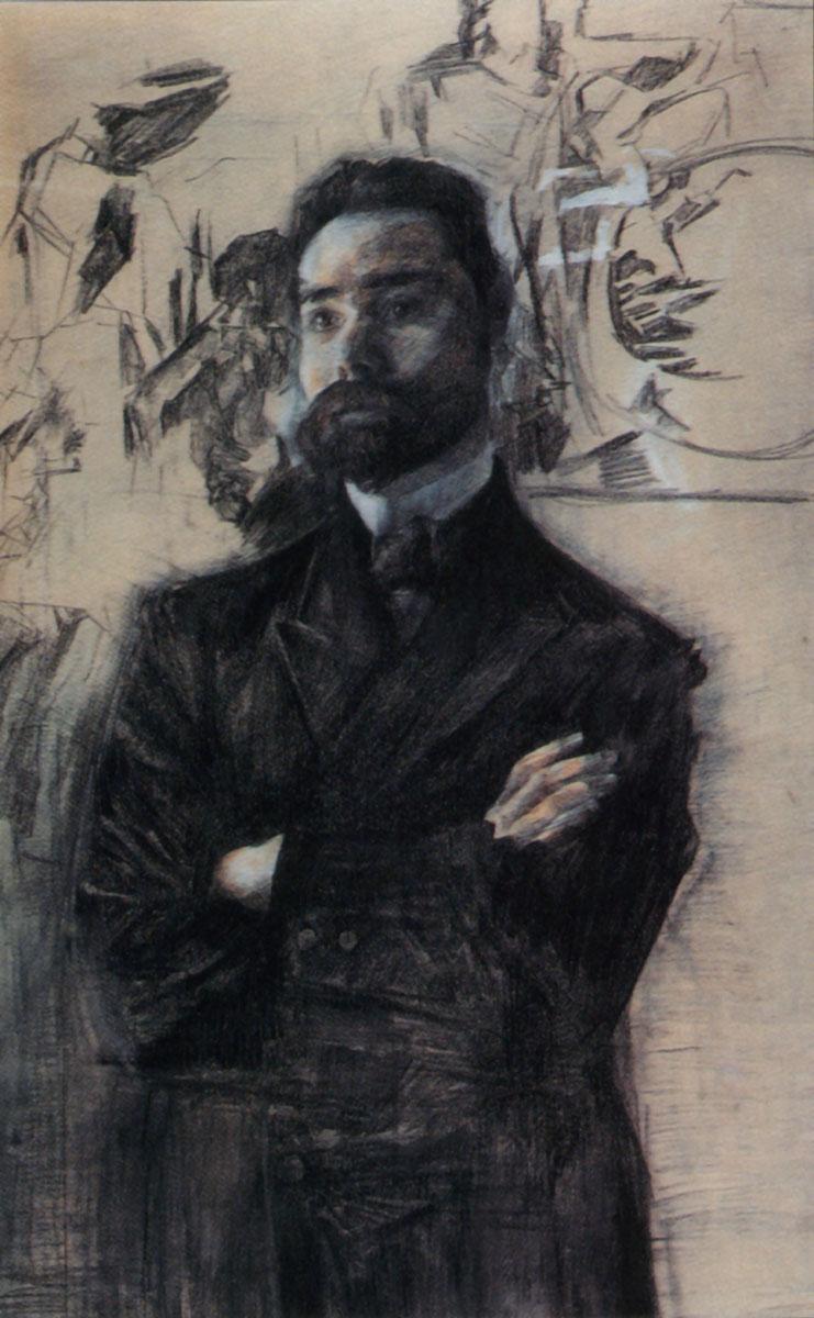 Портрет В.Я. Брюсова — Врубель Михаил Александрович