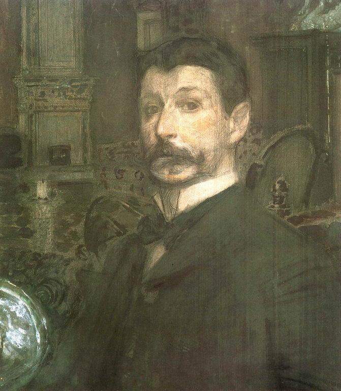 Автопортрет. 1905г. — Врубель Михаил Александрович