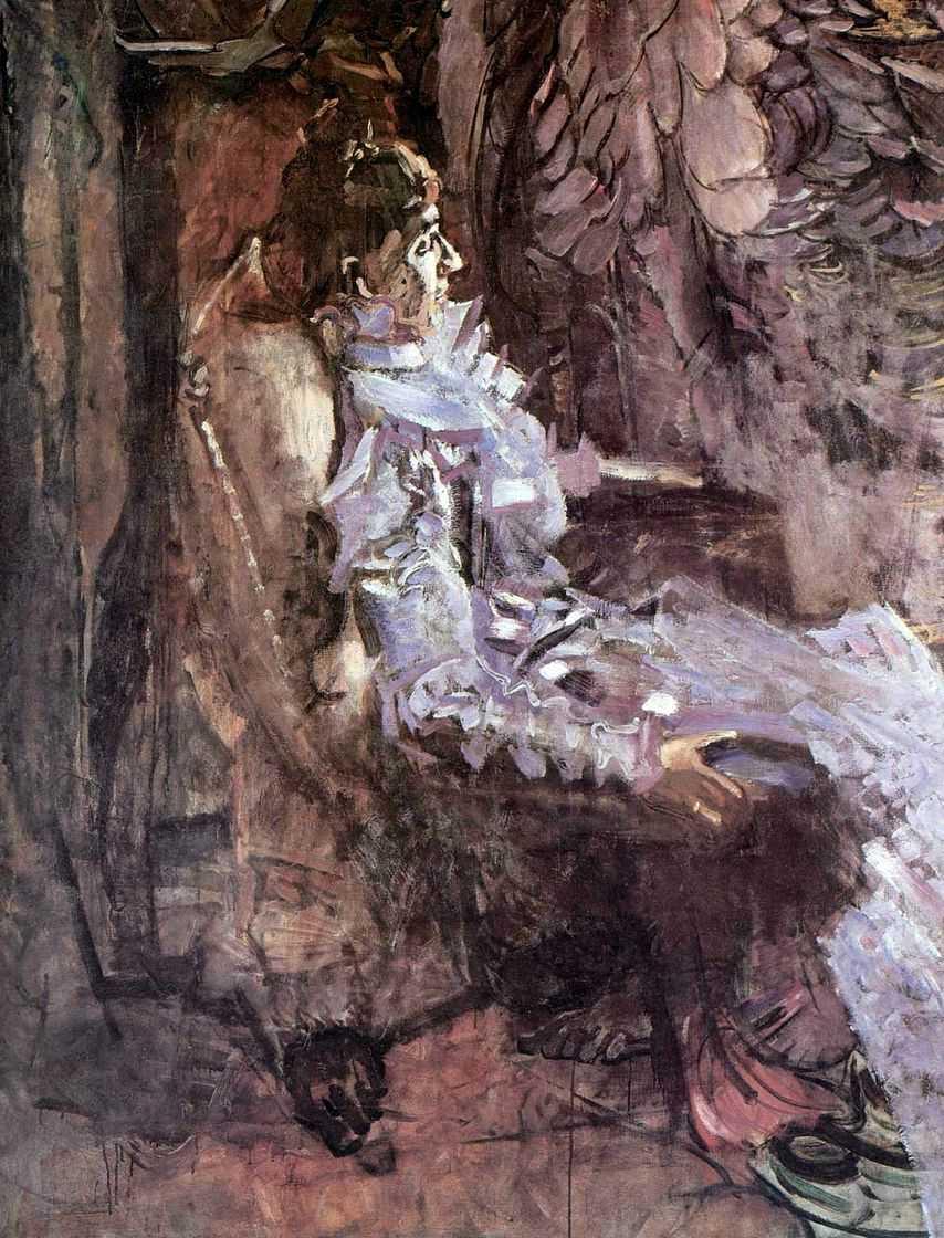 Портрет дамы в лиловом (Жена художника). — Врубель Михаил Александрович