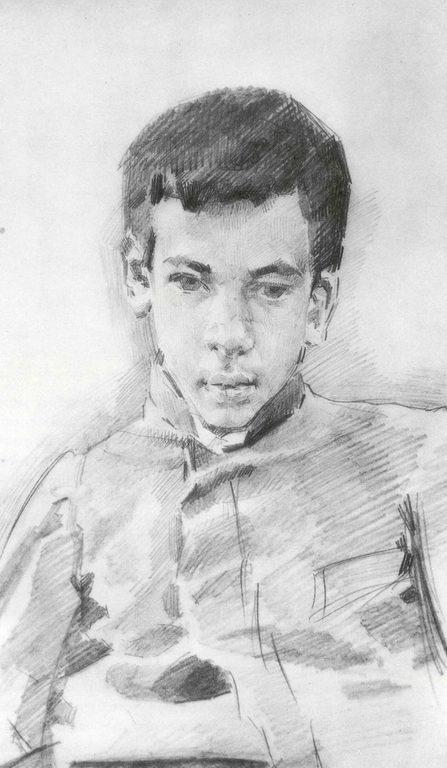 Портрет мальчика — Врубель Михаил Александрович