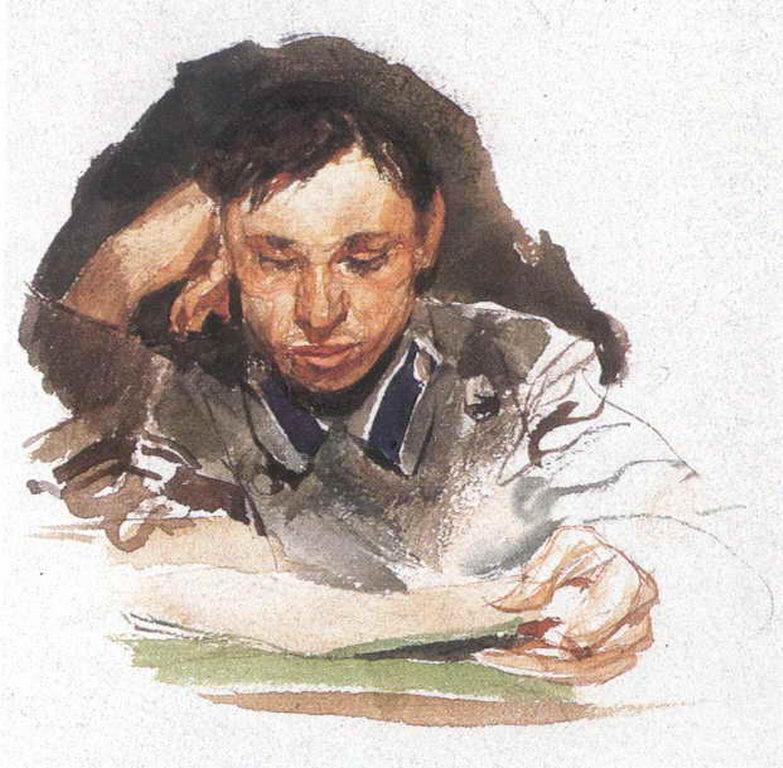 Портрет студента — Врубель Михаил Александрович